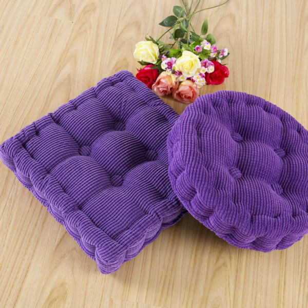45 45cm Chair Pad Futon Cushion Pearl Cotton Filler Solid Color Corduroy Seat Cushions Tatami Home Decor In From Garden On