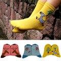De las mujeres calcetines meias animales patrones jirafas cebra calcetines primavera y summer lindo búhos de dibujos animados calcetines de algodón de abrigo