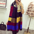 Autumn and Winter Faux Scarf Thermal Women's Muffler Scarf Air Conditioning Large Cape Scarf Dual Thickening All-match Scarf