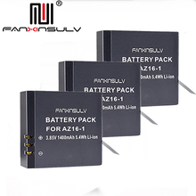 3 x AZ16 1 Battery AZ16-1 + 3 x battery box For Xiaomi Yi 2 4K Battery Yi 4K+ Yi 360 VR Original Xiao Mi Yi Lite Action Cameras стоимость