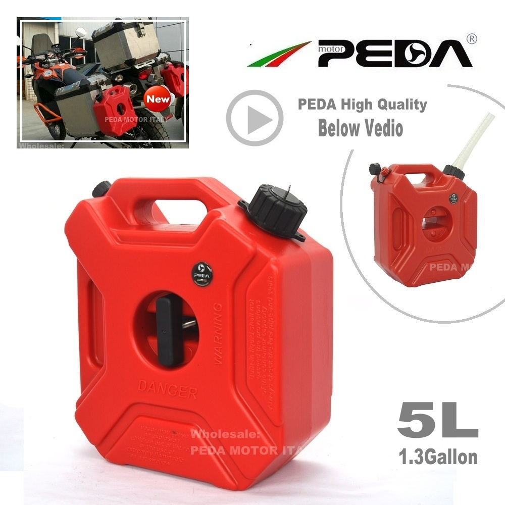 5L Jerry Can Portable fuel tank Plastic 1.3 Gallon diesel cans ATV Gokart Utv Motorcycle GAS CAN gasoline mount spout refueling