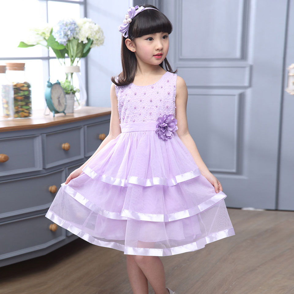 Baby Girl Knee-Length Dress Princess Kids Children Infant Baby Dresses Baby Girls Dresses 6-14 Yrs Baby Girl Clothes