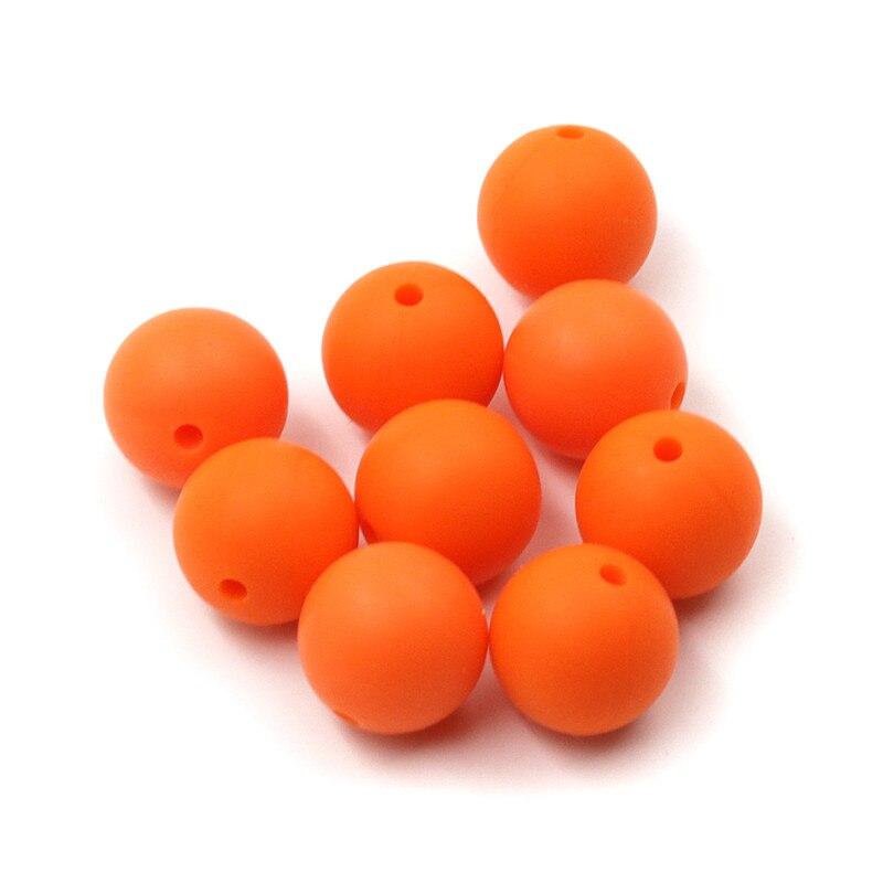 JOJOCHEW 100 sztuk 9mm-19mm Pomarańczowy Hot Nowe Silikonowe - Opieka nad dzieckiem - Zdjęcie 2