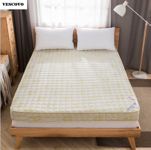VESCOVO High Density Queen Twin Size Bed Foam Mattress Tatami Mat Back Protection
