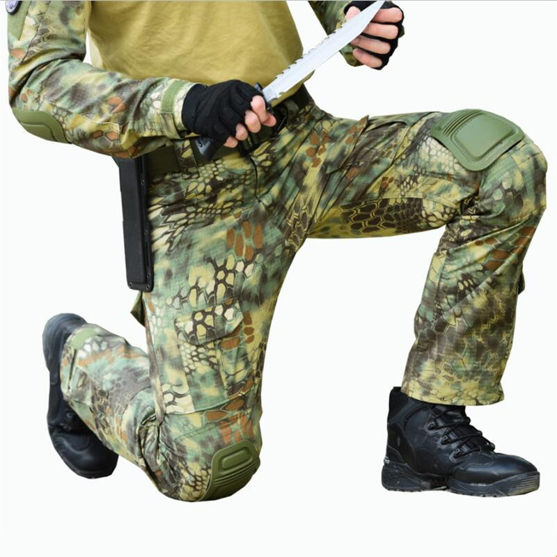 New Python Snake pattern Camouflage Print Pants Military Army Russia brave  Men Combat Tactical Green Camo 1505efc0c984