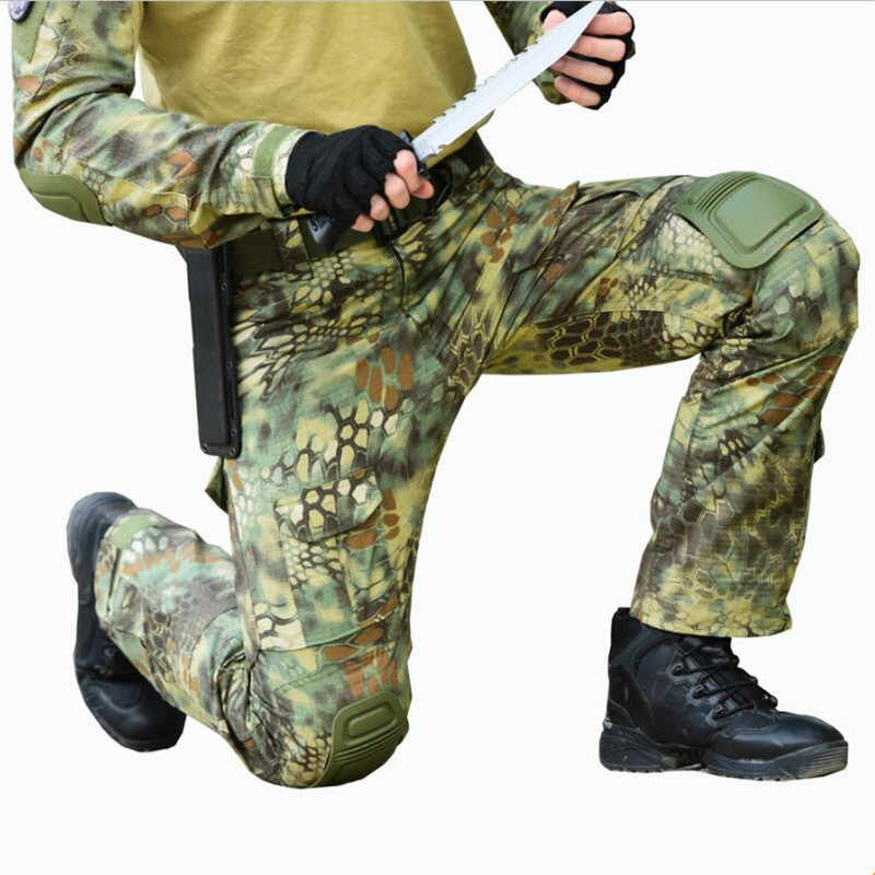 b54c93b84663ec New Python Snake pattern Camouflage Print Pants Military Army Russia brave  Men Combat Tactical Green Camo
