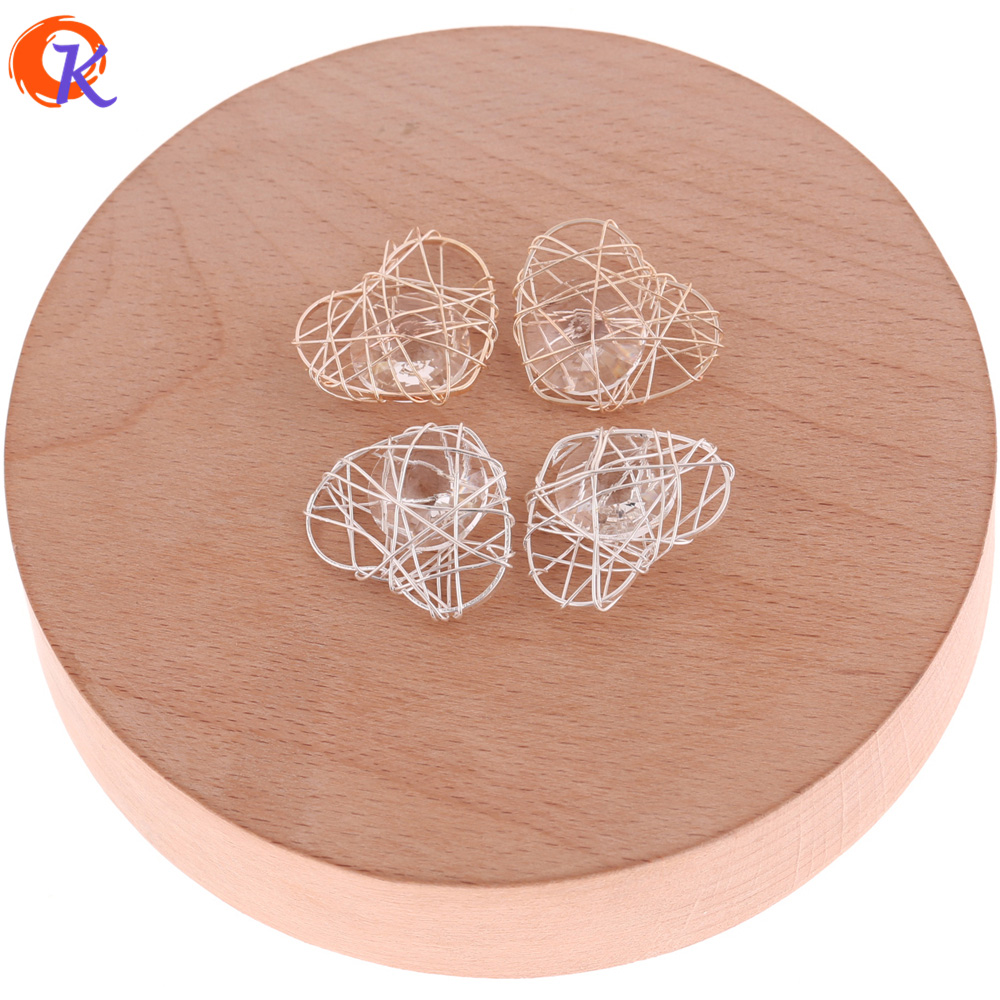 Cordial Design 50Pcs 20*23MM Jewelry Accessories/Wire Enlace Charm Beads/Drop Earring Base Parts/Hand Made/Earring Findings