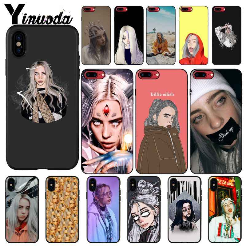 Yinuoda Billie Eilish 13 Girl Newly Arrived Black Phone Case for iPhone 6S 6plus 7 7plus 8 8Plus X Xs MAX 5 5S XR