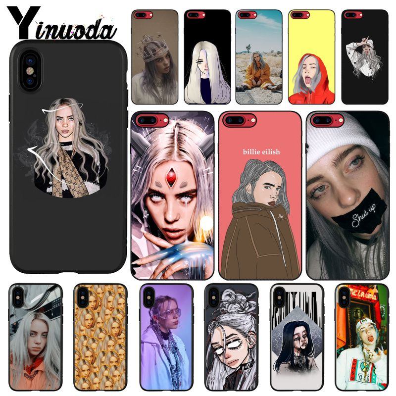 Yinuoda Billie Eilish 13 Girl Phone Case For iphone 11 Pro Max 6S 6plus 7 8plus X Xs MAX 5 5S XR image