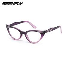 SEEMFLY Cat Eye okulary do czytania okulary kobiety mężczyźni okulary korekcyjne okulary kobieta mężczyzna nadwzroczność okulary Unisex lupa okulary tanie tanio Przezroczysty Lustro Z tworzywa sztucznego YJ0749 6 cm 4 3 cm Eyewear Reading Glasses Black Leoprad Purple White Reading Glasses Eyewear Eyeglasses Magnifying Glasses