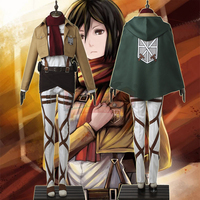 Cosplay Legend Attack On Titan Mikasa Ackerman Cosplay Adult Costume Custom Made Full Set