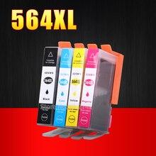 4 шт. 564XL картридж с чернилами для HP 564 картридж для Photosmart 5510 5511 5512 5514 5515 5520 5525 6510 6512 6515 6520 7510 7515