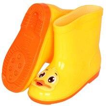 1c09664765a27 Enfants mignon canard bottes de pluie garçons et filles dessin animé bottes  en caoutchouc chaussures de gelée chaussures impermé.