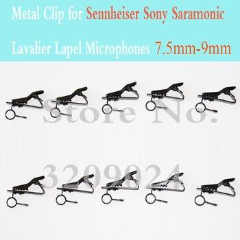 10 шт. запасные Сменные зажимы для микрофона 7,5 мм-9,0 мм с металлическим зажимом для микрофонов с отворотом Sennheiser Sony Saramonic Lavalier