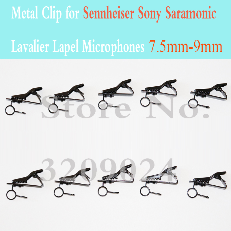10PCS Spare Replaceable 7.5mm-9.0mm Metal Clip Mic Clips For Sennheiser Sony Saramonic Lavalier Lapel Microphones
