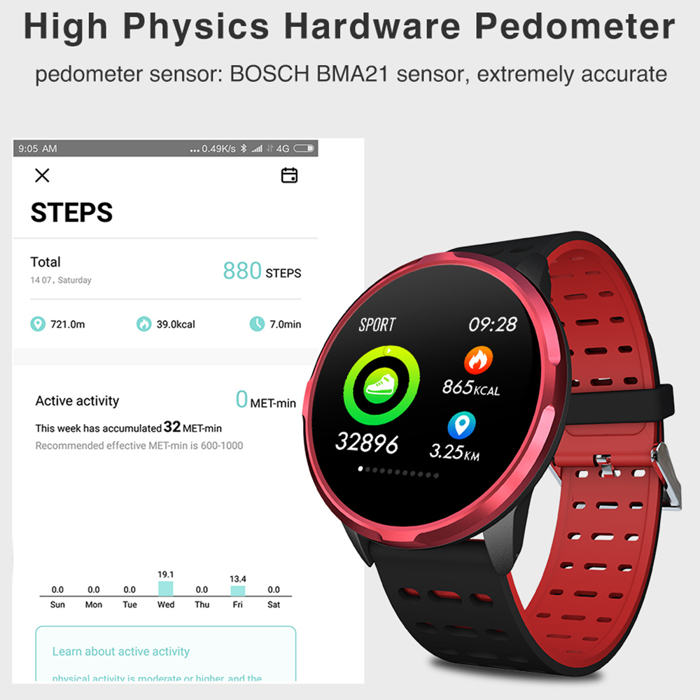 """Image 5 - Virtoba CN88 Smart Watch 1.3"""" Color Display Activity Fitness Tracker Blood Oxygen Blood Pressure BRIM Men Women Smartwatch PKV11-in Smart Watches from Consumer Electronics"""