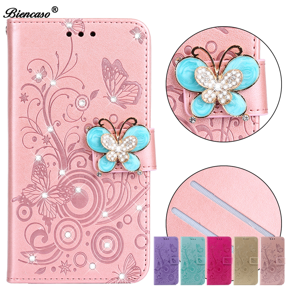Butterfly Jewelled Stand <font><b>Case</b></font> For Huawei Mate 20 <font><b>lite</b></font> <font><b>Honor</b></font> 10 9 8 Nova 3 3i 3e 4E P smart 2019 Plus Glitter Cover P8 <font><b>Lite</b></font> 2017 image