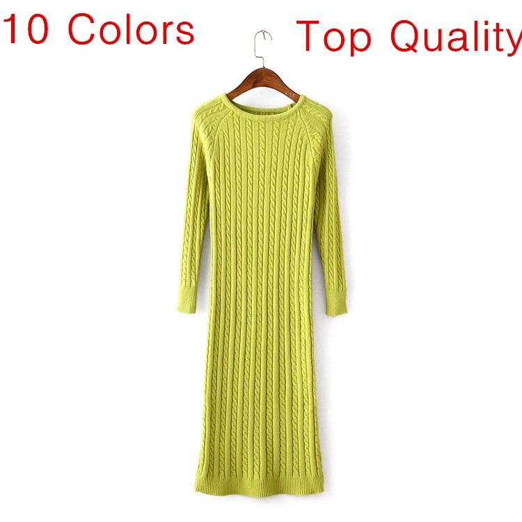 Women Twist Back Slit OL Sweater Dress Slim vestido de festa Knitted Autumn vestidos Office Long