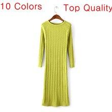 Женщины twist вернуться щелевая пр свитер dress тонкий vestido де феста вязаный осень vestidos офис длинные dress женщины свитера пуловеры