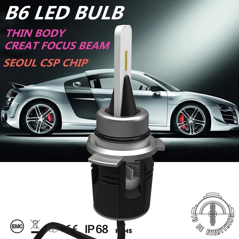 DLAND B6 24W 3600LM AUTO CAR LED BULB LAMP KIT, WITH TURBINE HEAT EMITING H1 H3 H7 H8 H9 H11 9012 9005 9006 880 881 H4 H13