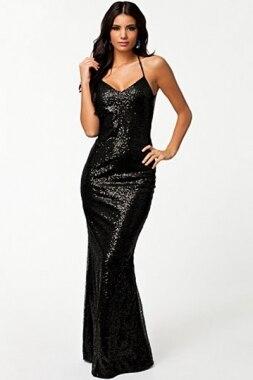 Long Evening Dress New Elegant Black Sequin Evening Dress D6306 ...