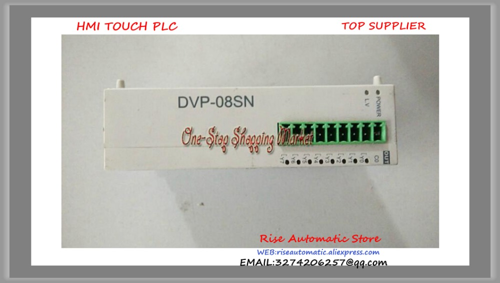 New Original PLC Programmable Logic Controller 8 point 8DO Relay DC power DVP08SN11R new original programmable logic controller vb0 14mr d plc 24vdc 8 point input 6 point output main unit