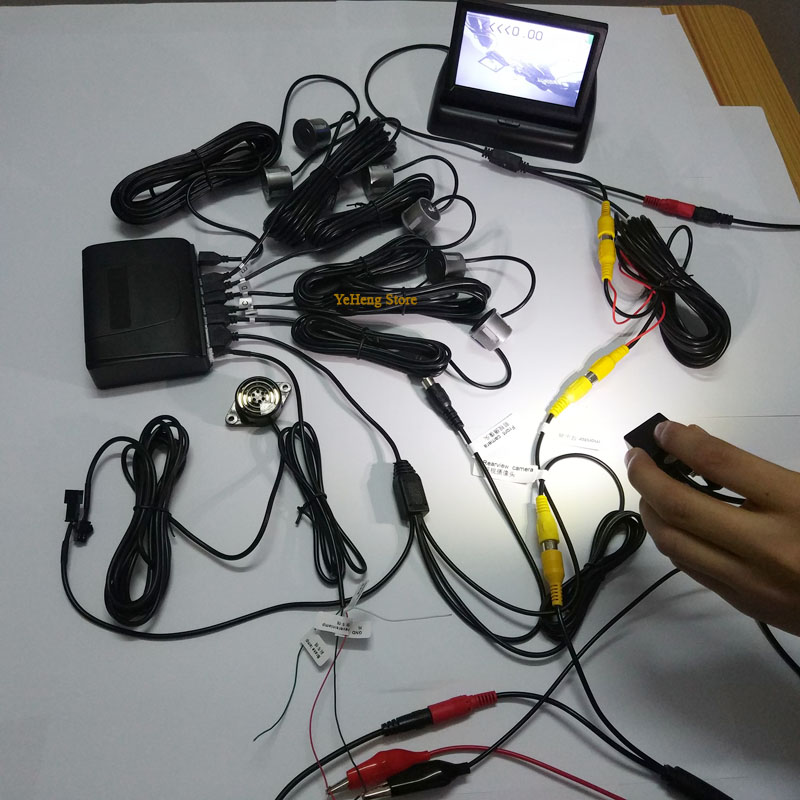 Neue 5 zoll Klapp Digitalen Display Parktronics Auto Parkplatz Sensoren 6 Summer Alarm Vorne Rückansicht Auto Rückfahr Kamera Anzeige - 6