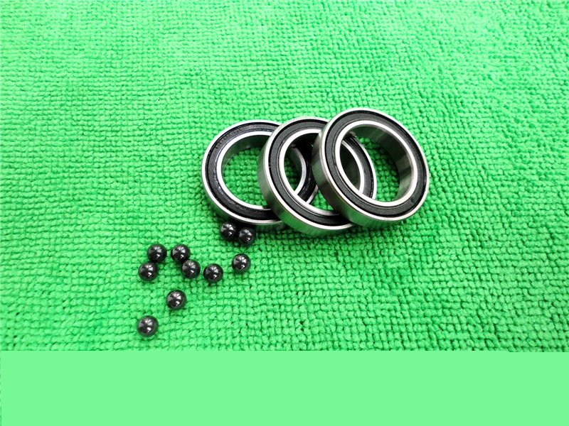 S6000-2RS 10*26*8 mm ABEC-3 Stainless steel ceramic Si3N4 ball bearing for bicycle front hub free shipping wheel hub bearing 15267 2rs 15 26 7mm 15267 stainless steel si3n4 hybrid ceramic bearing