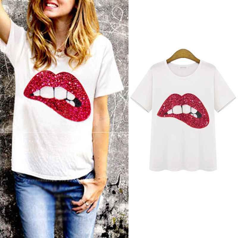 Летние шорты с длинными рукавами Для женщин футболка футболки лодка блузка с изображением якорей женская рубашка одежда плюс Размеры Новое поступление F1