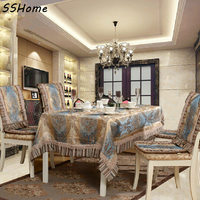 Natural quality fashion table cloth modern dining table cloth table cloth chair cover set fabric tablecloth table cloth a
