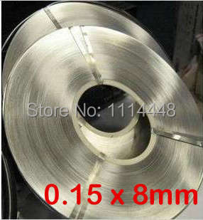 0.15 x 8mm 1kg Nickel Plated Steel Strap Strip Sheets for battery spot welding machine Welder Equipment 1kg 1kg 0 2 x 8mm high pure 99 96% nickel plate strap strip sheet for 18650 power battery spot welding machine welder equipment