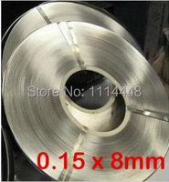 0.15 x 8mm 1kg Nickel Plated Steel Strap Strip Sheets for battery spot welding machine Welder Equipment 1kg
