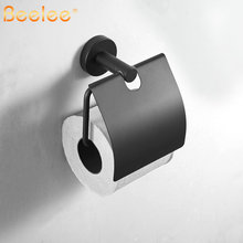 Toilet Paper Holder Bathroom Paper Tissue Holder Black SUS304 Stainless Steel Bathroom Accesseries Roll Paper Holders with Cover