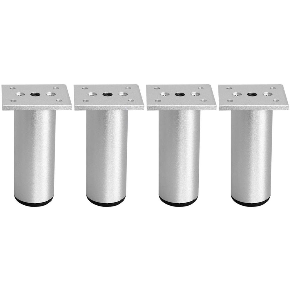2.36''/6cm Thicken Adjustable Aluminum Furniture Feet Table Sofa Cabinet Legs Cupboard Chairs Feet With Mounting Screws 4pcs