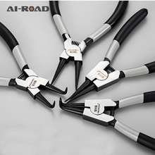 13 Inch Multi-function Shaft Hole Snap Ring Pliers Internal External Straight Bending Remover Multi-crimp Tool Circlip Pliers snap on multi tool 871156