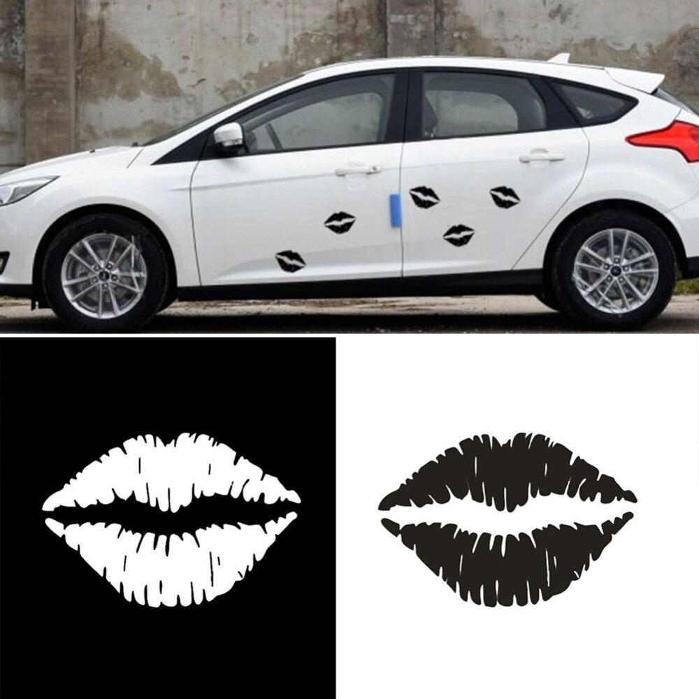 BlackWhite Car Stickers Kiss Mark Lips Car Decal Sticker Sexy Hot - Best car decal stickers