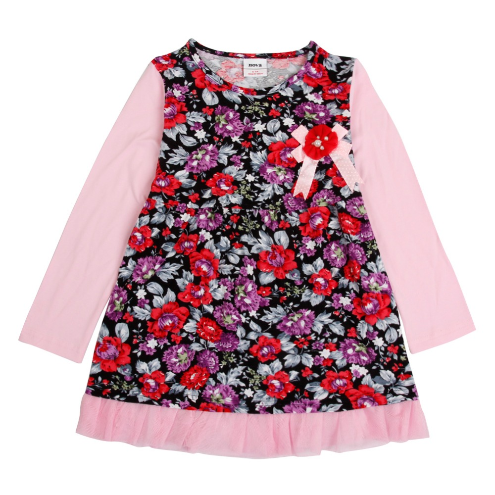 wholesale nova girl dresses kids wear design girls baby frocks free shipping dress fashion desings party baby girl dress designs