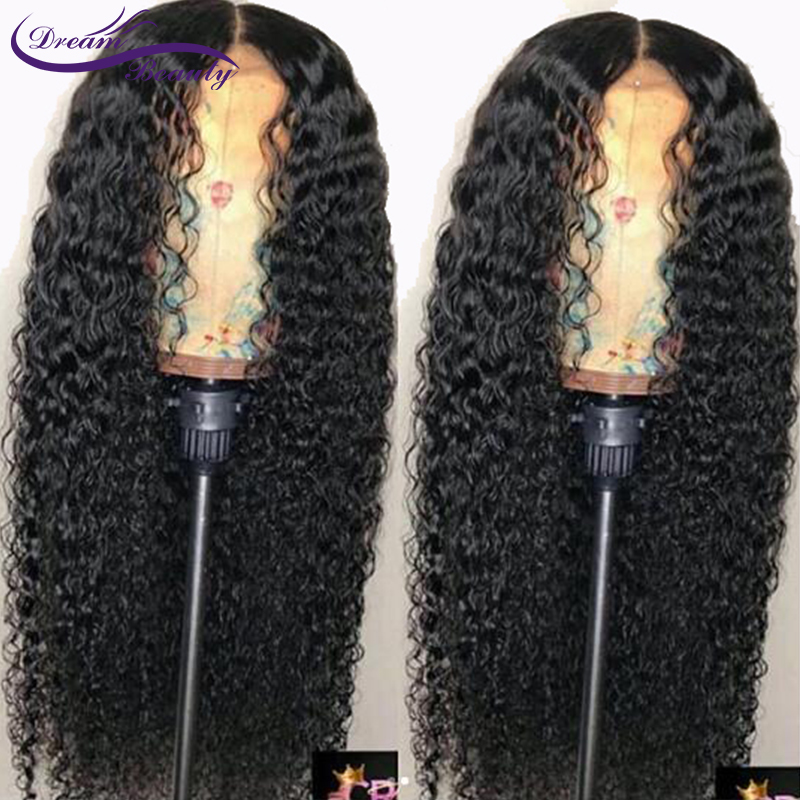 Dream Beauty130 Density Curly Lace Front Human Hair Wigs 13X6 Brazilian Remy Hair Lace Wigs Pre