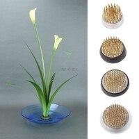 Redondo Ikebana Kenzan flor Rana con junta de goma arte herramientas de arreglo fijo|Placas y señales| |  -
