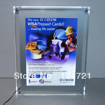 Acrylic advertising snap frame led lightboxes
