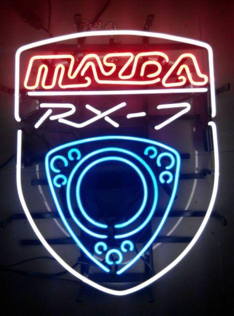 Mazda Rx-7 Auto Neon Light Sign Beer Bar
