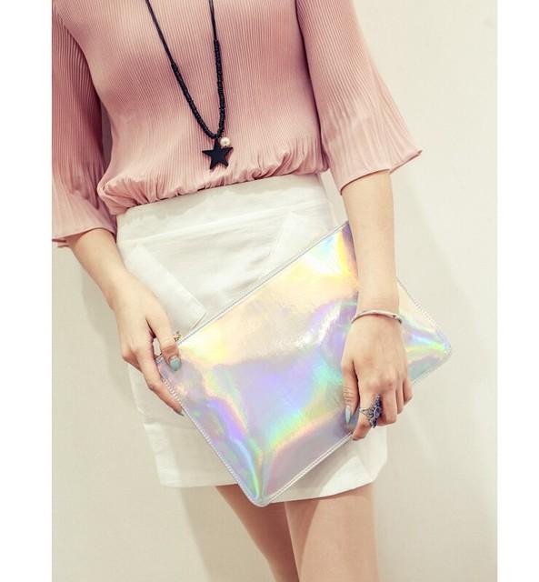 2017 Fashion women messenger bags ladies Envelope Clutches handbag Laser women bags Designer clutch bag