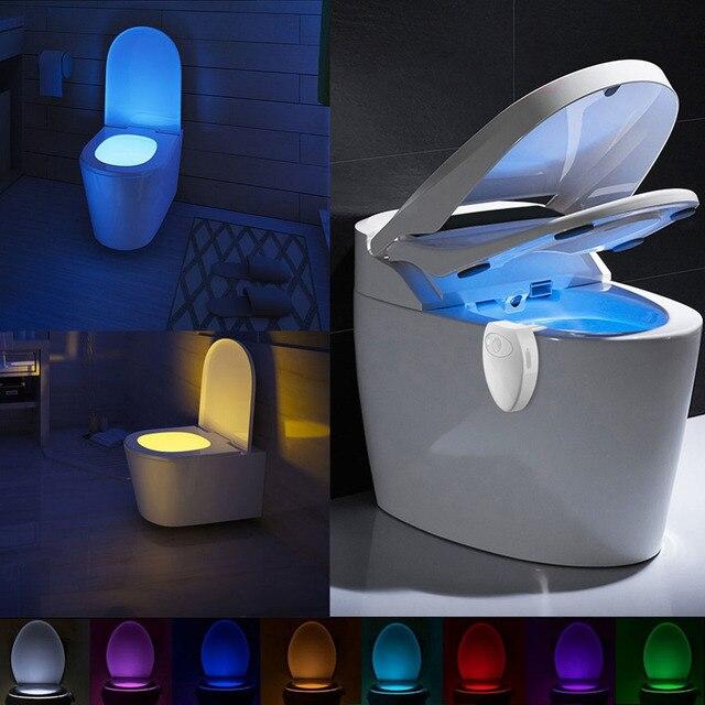 Coquimbo USB Aufladbare Wc Licht PIR Motion Sensor 8 Farben Hintergrundbeleuchtung F r Wc Sch ssel