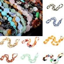 Wholesale Natural Stone Necklace Agates Quartz  10x14mm 6mm 18 inches