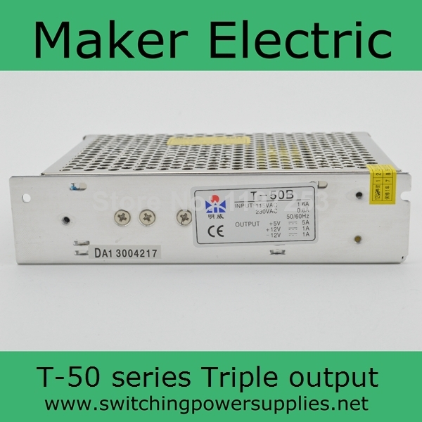 цена на Triple Output Switching power supply 50W 5V 15V -15V 4A 1A 1A ac to dc power supply ac dc converter T-50C High quality