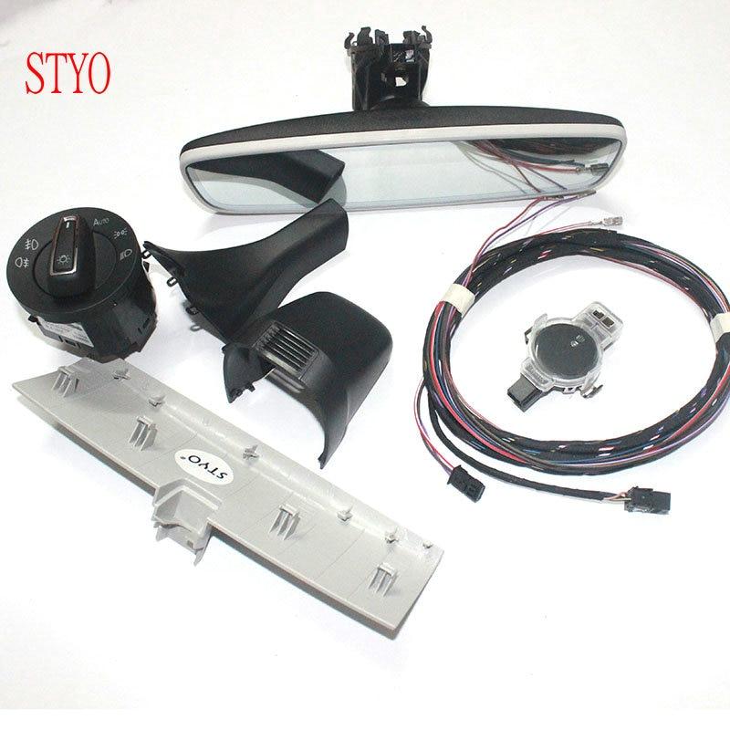 STYO Car Auto headlight switch+Rain Light Wiper Sensor+ Dimming Rear View Mirror For VW Golf 7 MK7 - 2