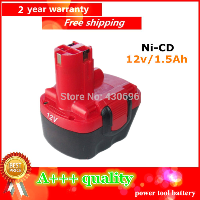Ni CD 12v 1 5Ah Replacement For Bosch tool battery 2607335709 2607335249 2607335261 2607335262 2607335273 GSR12