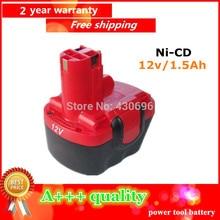 Ni-CD 12 v 1.5Ah Remplacement Pour Bosch outil batterie 2607335709/2607335249/2607335261/2607335262/2607335273/GSR12-1 GSB12VE-2
