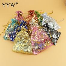 YYW 100pcs/lot 11*16cm Drawable Organza Bags Mix Color Wedding Christmas Gift Bags Candy Jewelry Packaging Organza Bags