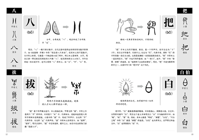 Купить с кэшбэком chinese book binding: Explain Chinese characters,Chinese characters book for learning hanzi history and 1000 Character Story